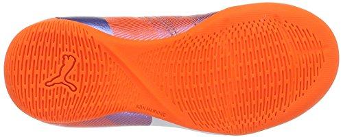 Puma Evopower 4.3 It Jr, Botas de Fútbol Unisex Niños Multicolor - Mehrfarbig (Blue Yonder-puma White-SHOCKING Orange 03)
