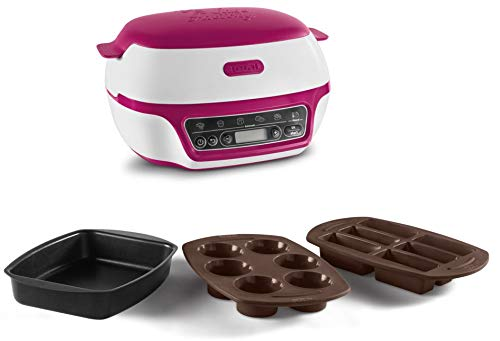 Lava Cakes Intelligent Smart Maker Easy Silicone Moulds Tefal KD801840 Cupcakes White//Pink Baking CakeFactory