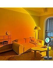 Zonsondergang Projectie Lamp Nachtlampje, 180 ° rotatie Romantische visuele vloerstandaard Led-zonsondergang licht, Sfeer Nachtlampje voor thuis Slaapkamer Woonkamer Decor