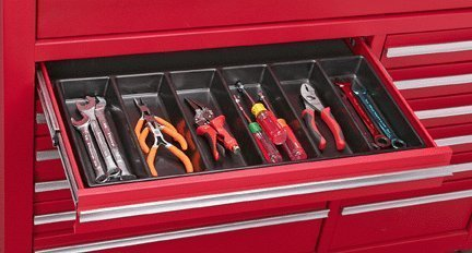 (US General 99729 6 Compartment Drawer Organizer for Tools, Nails, Screws, Tackle)