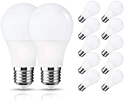 12 Pack A19 Light Bulb, LOHAS LED Light Bulb, 9W(60W Equivalent), E26 Medium Base Soft White 3000K Light Bulb, 800LM,...
