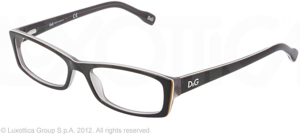 D/&G Eyeglasses DD 1212 1871 Black 52MM