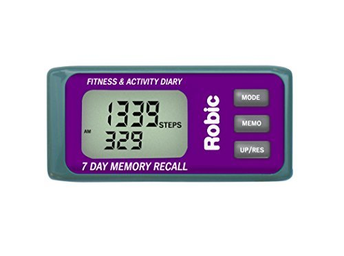 Robic Personal Activity Tracker with 7 Day Memory Diary, Purple by Robic