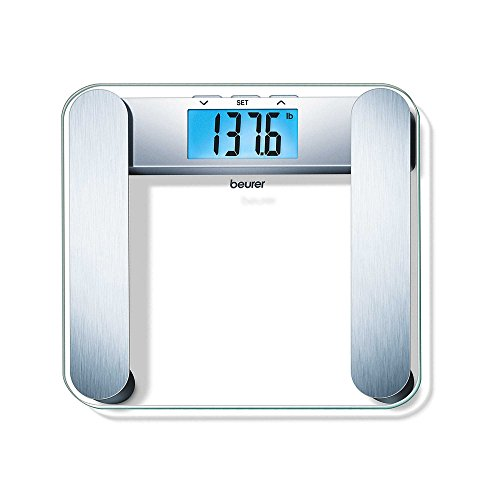 Beurer Body Fat Analyzer Scale BMI, Multi-User & Recognition, Digital Weight Scale, XL LCD Illuminated Display, BF221
