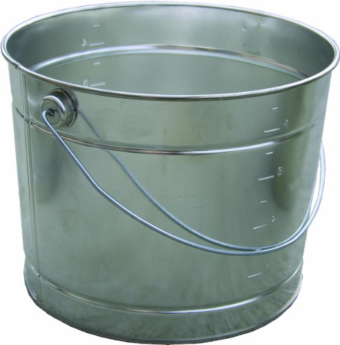 5 Qt Metal Bucket - Encore Plastics 25000 Metal Pail with Handle, 5-Quart