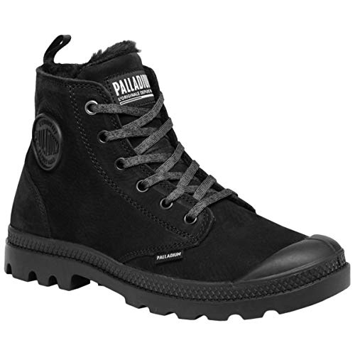 Palladium Womens Pampa Hi Zip WL Nubuck Black Boots 8 US