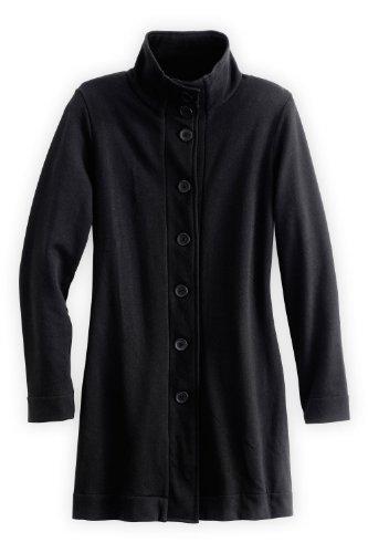 Fair Indigo Fair Trade Organic Cotton Fleece Funnel Neck Jacket