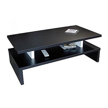 L Table After Noir Contemporain Style Basse Satiné 97 51 Cm Xl bYf7gy6