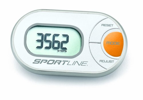 Sportline 310 Qlip Any-Wear Pedometer For Counting Step, Distance, And More- Can Clip To Your Shorts, Slip In Your Pocket Or Wear On Your Sleeve (Wear Pedometer)