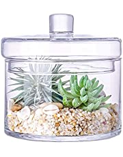 Apothecary Glass Food Storage Jars with Lid, Decorative Wedding Centerpiece Storage Containers for Kitchen or Bathroom