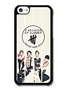 Wholesale diy case Accessories 5 Seconds Of Summer Black Logo Collage Boyband case for iPhone 5C