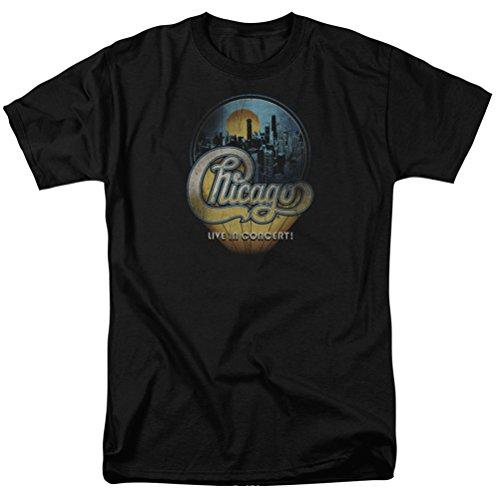A&E Designs Chicago Live T-Shirt, Black, Large