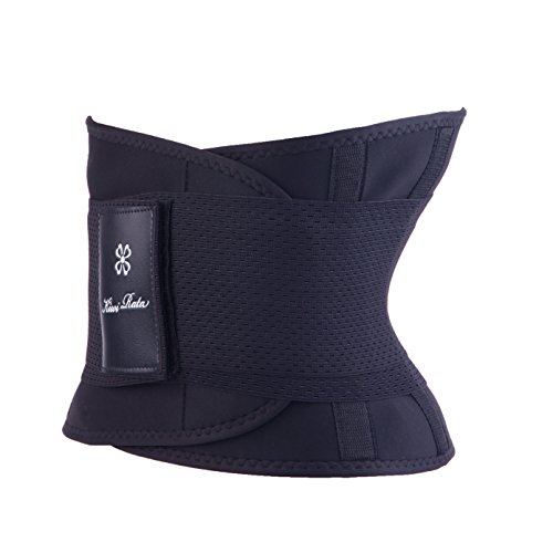 MISSY MOLY Waist Trimmer Intimating Belt Modeling Back Supporto lombare Dimagrante Attivo Maschi e Donna black L