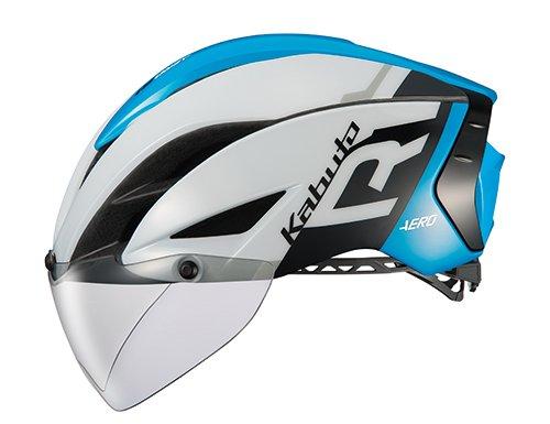 OGK KABUTO(オージーケーカブト) ヘルメット AERO-R1 ホワイトブルー S/M (頭囲:55cm-58cm)   B079L63D6G