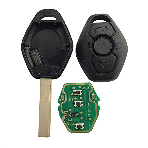 Price comparison product image Dudely New Uncut Chip Chip ID44 315MHz 433MHz Keyless Entry Remote Control Car Key Replacement for BMW LX8 FZV Z4 X 3 X5 E46 Series 3 5 6 7 Z3(Include Electronic, Battery and Chip)