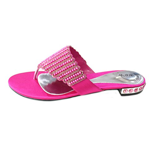 Wear & Walk UK - Sandalias de vestir para mujer rosa - Shocking Pink