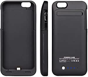 Black 3200mAh Slim External Battery Case Charger Power Bank for Apple Iphone 4.7