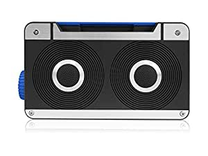 AXESS SPBT1063BL Mini Bluetooth Loud Speaker with Hands-Free Calling and Built-in Rechargeable Battery in Blue
