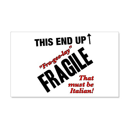 CafePress Fragile Must Be Italian Christmas Story 38.5 X 2 35x21 Wall Decal, Vinyl Wall Peel, Reusable Wall Cling ()