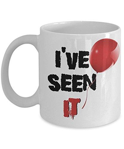 Scary Clown I've Seen It Creepy Red Balloon Coffee Mug ()
