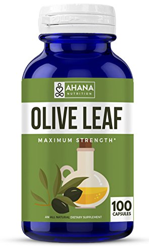 Olive Leaf 30 Tablets (Pure Olive Leaf Extract Capsules - Maximum Strength Formula With 100 Capsules - Supports Immunity, Maintains Brain Function & An Antioxidant Supplement)