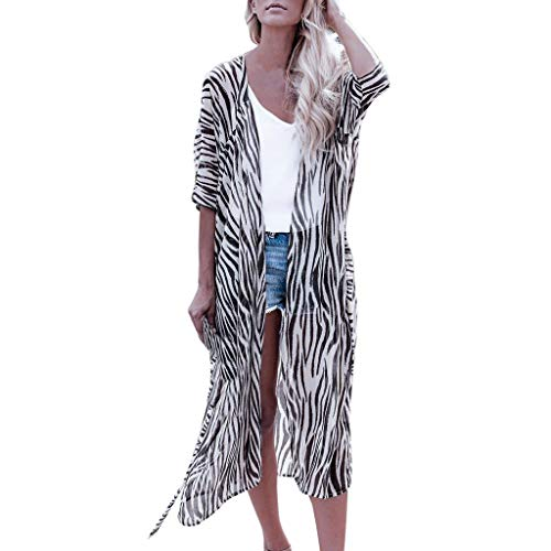 Shisay Womens Sexy Striped Beach Cover Up Long Kimono Cardigan Lightweight Bathing Suit Dress Black (Best Wood Burners Reviews)