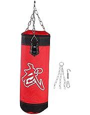Camidy Bokszak Voor Bokstraining Kickzandzak Met Hangende Karabijnhaak Zware Bokszak Bokszak Voor Kickboksen Muay Thai Karate en Taekwondo