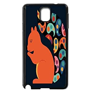 Samsung Galaxy Note 3 Cell Phone Case Black Paisley Squirrel YKU Custom Unique Cell Phone Case