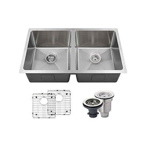 (3120D 14 Gauge Stainless Steel Kitchen Ensemble (Bundle - 5 Items: Sink, Basket Strainer, Standard Strainer, and 2 Sink Grids))