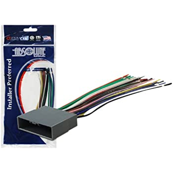 absolute usa h812 1722 radio wiring harness. Black Bedroom Furniture Sets. Home Design Ideas
