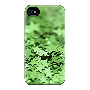 Premium Green Metallic Stars Heavy-duty Protection Case For Iphone 4/4s