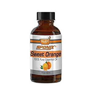 Best Sweet Orange Essential Oil - Top Aromatherapy Oil - 100% Pure - Therapeutic Grade and Premium Quality - 30 mL by Sponix