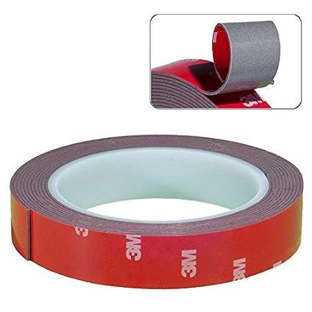 DonDo 3M Ruban adh/ésif Double Face Extra Fort adh/ésif pour Voiture 20 mm x 3 m