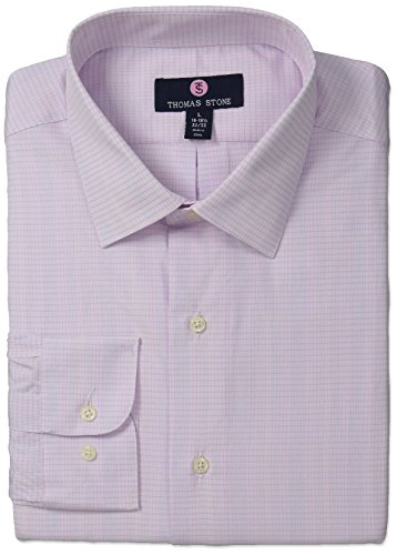 thomas-stone-mens-tailored-fit-check-spread-collar-dress-shirt-white-pink-16-165-neck-34-35-sleeve-l