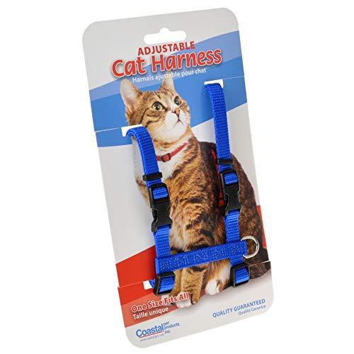 Tuff Collar Nylon Adjustable Cat Harness - Blue Girth Size 10-18 (12 Pack) by Tuff Collar