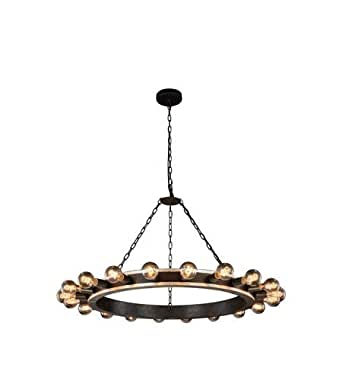 Pendants 20 Light With Silver Leaf and Vintage Bronze Finish E26 Bulb 40 inch 800 Watts - World of Classic