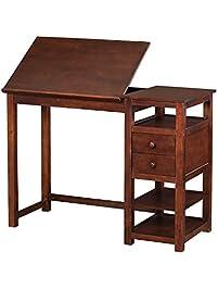 dorel living drafting and craft counter height desk espresso