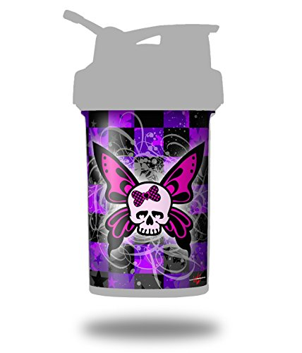 Butterfly Skull - Decal Style Skin Wrap fits Blender Bottle 22oz ProStak (BOTTLE NOT ()