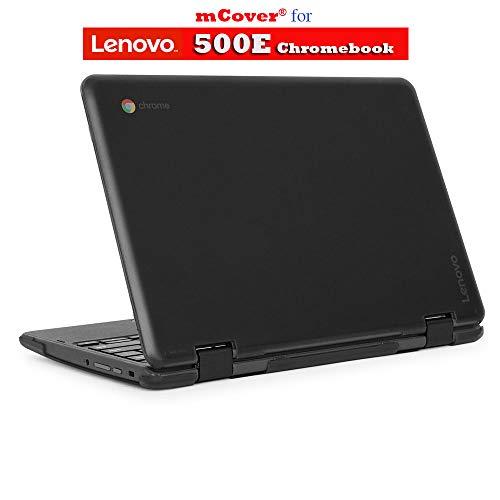 mCover Hard Shell Case for 2018 11.6 Lenovo 500E Series 2-in-1 Chromebook Laptop (NOT Fitting Lenovo N21 / N22 / N23 /100E / 300E / Flex 11 Chromebook) (C500E Black)