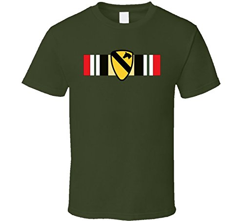 Iraq Campaign Service Medal (3XLARGE - Iraq Campaign Rib - 1st Cavalry Division T Shirt - Military Green)