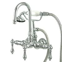 Kingston Brass CC8T1 Vintage Leg Tub Filler with Hand Shower, Polished Chrome