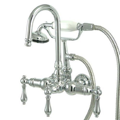 Kingston Brass CC8T1 Vintage Leg Tub Filler with Hand Shower, Polished Chrome ()