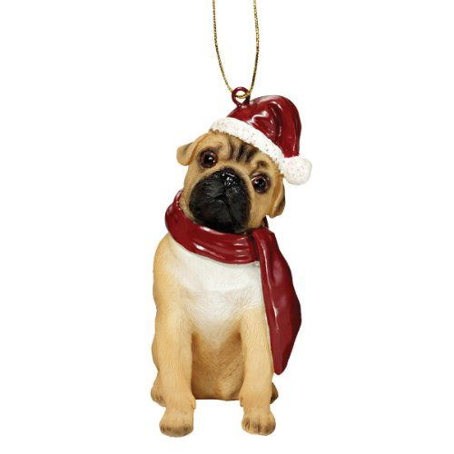 - Xmas Pug Holiday Dog Ornaments (Pug Dog Christmas Tree Ornament)