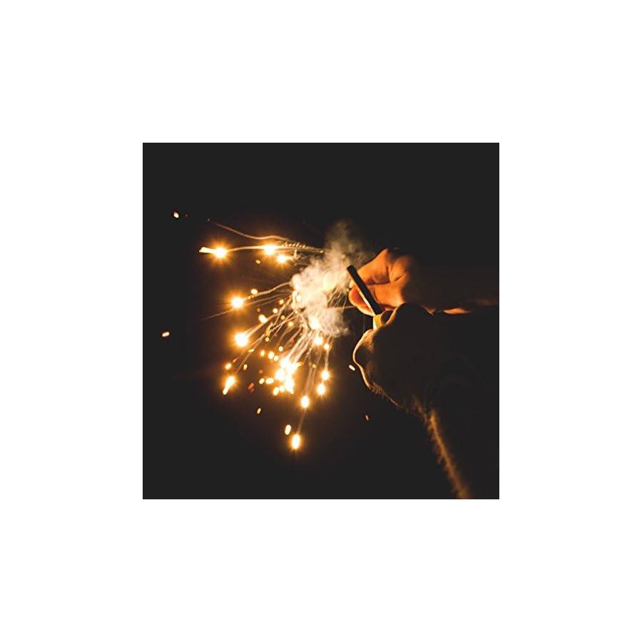 "überleben Lumen Fire Starter | Glow in The Dark Luminous Handle | 5/16"" Thick Fire Steel | Bushcraft Ferro Rod with Multi Tool Striker | 12,000 Strikes | Survival Ferro Rod | Shock Cord Lanyard"