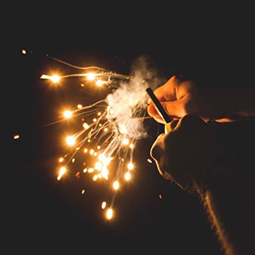 "Überleben Lumen Glow in the dark Fire Starter | 5/16"" Thick Bushcraft Fire Steel with Luminous handle | 12,000 Strikes | Ferro Rod Fire Starter for Survival | 6 in 1 Multi Tool"