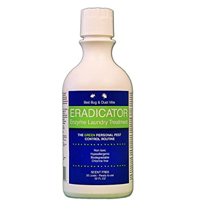 Bed Bug Eradicator / Enzyme Laundry Treatment for Bedbug Control / 32 Ounces