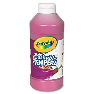 Crayola Washable Tempera Paint, Magenta Paint Craft Supplies, 16 Ounce