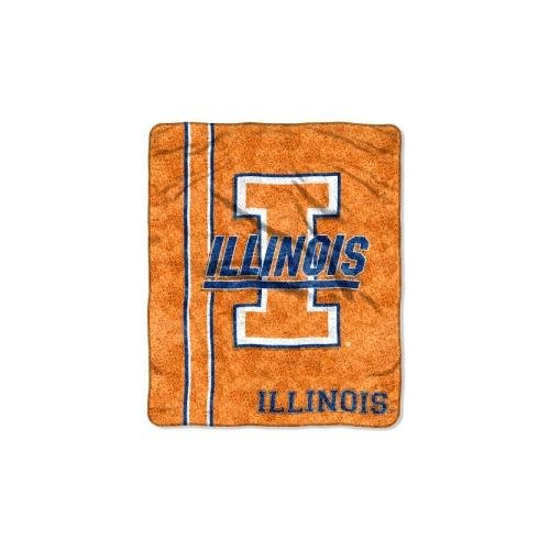 The Northwest Company Officially Licensed NCAA Illinois Illini Jersey Sherpa on Sherpa Throw Blanket, 50