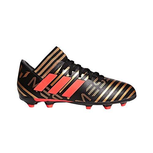 Adidas Børnenes Nemeziz Messi 17,3 Fg J Fodbold-sko, Kerne Sort / Sol Rød / Taktile Guld