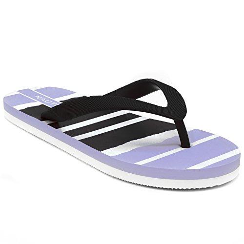 Nautica Women's pintle Flip Flop, Beach Sandal, Thong Style Boat Slide, (Elastic Thong Flip Flops)